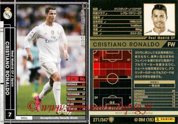 2015-16 - Panini WCCF - N° 271 - Cristiano RONALDO (Real Madrid CF)