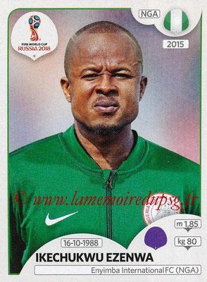 2018 - Panini FIFA World Cup Russia Stickers - N° 334 - Ikechukwu EZENWA (Nigeria)
