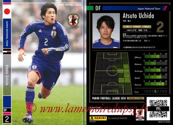 Panini Football League 2014 - PFL06 - N° 117 - Atsuto UCHIDA (Japon)