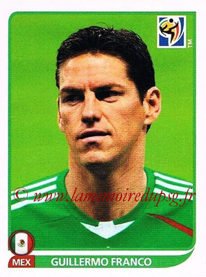 2010 - Panini FIFA World Cup South Africa Stickers - N° 062 - Guillermo FRANCO (Méxique)