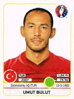 Panini Euro 2016 Stickers - N° 423 - Umut BULUT (Turquie)