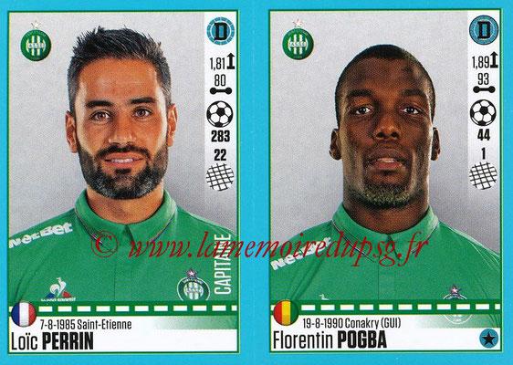 2016-17 - Panini Ligue 1 Stickers - N° 782 + 783 - Loïc PERRIN + Florentin POGBA (Saint-Etienne)