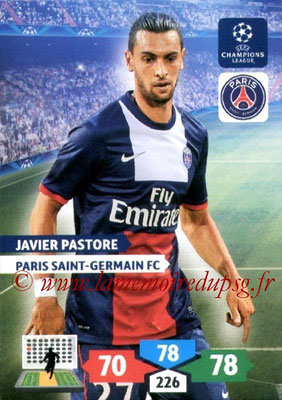 2013-14 - Adrenalyn XL champions League N° 232 - Javier PASTORE (Paris Saint-Germain)