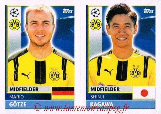 2016-17 - Topps UEFA Champions League Stickers - N° DOR 14-15 - Shinji KAGAWA + Mario GOTZE (Borussia Dortmund)
