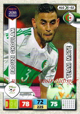2018 - Panini Road to FIFA World Cup Russia Adrenalyn XL - N° ALG02 - Faouzi GHOULAM (Algérie)