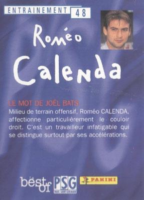 N° 048 - Romeo CALENDA (Verso)