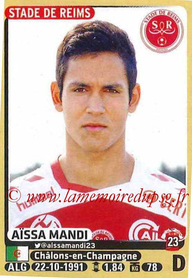 2015-16 - Panini Ligue 1 Stickers - N° 365 - Aïssa MANDI (Stade de Reims)