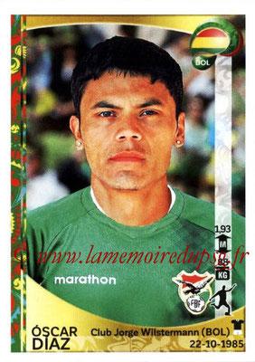Panini Copa America Centenario USA 2016 Stickers - N° 394 - Oscar DIAZ (Bolivie)