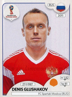 2018 - Panini FIFA World Cup Russia Stickers - N° 042 - Denis GLUSHAKOV (Russie)