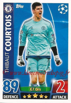 2015-16 - Topps UEFA Champions League Match Attax - N° 127 - Thibaut COURTOIS (Chelsea FC)