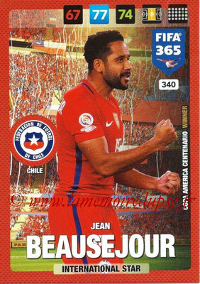 2016-17 - Panini Adrenalyn XL FIFA 365 - N° 340 - Jean BEAUSEJOUR (Chili) (International Star)