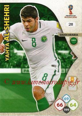 2018 - Panini FIFA World Cup Russia Adrenalyn XL - N° 211 - Yahya AL-SHEHRI (Arabie Saoudite)