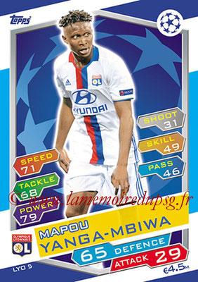 2016-17 - Topps UEFA Champions League Match Attax - N° LYO5 - Mapou YANGA MBIWA (Olympique Lyonnais)