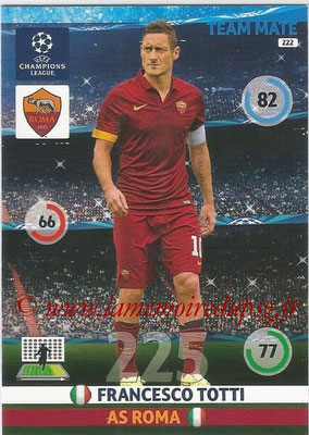2014-15 - Adrenalyn XL champions League N° 222 - Francesco TOTTI (AS Roma)
