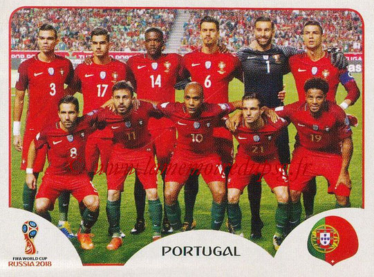 2018 - Panini FIFA World Cup Russia Stickers - N° 113 - Equipe Portugal