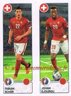 Panini Euro 2016 Stickers - N° 097 - Fabian SCHAR + Johan DJOUROU (Suisse)