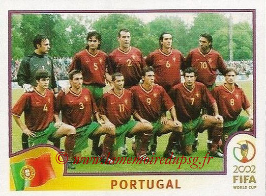 2002 - Panini FIFA World Cup Stickers - N° 295 - Equipe Portugal