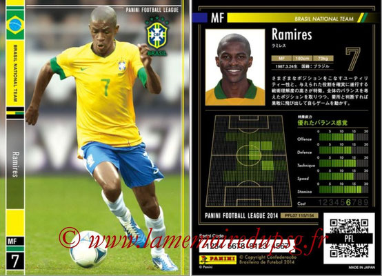 Panini Football League 2014 - PFL07 - N° 115 - RAMIRES (Bresil)