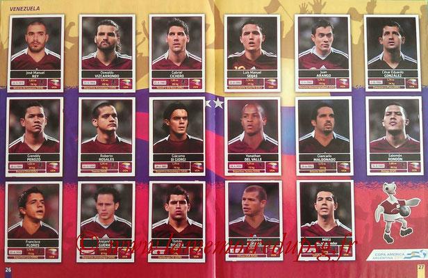 Panini Copa América Argentina 2011 - Pages 26 et 27 - Vénézuela