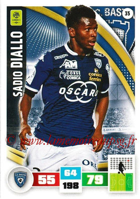 2016-17 - Panini Adrenalyn XL Ligue 1 - N° 035 - Sadio DIALLO (Bastia)
