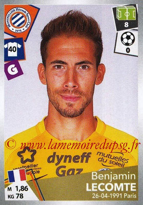 2017-18 - Panini Ligue 1 Stickers - N° 287 - Benjamin LECOMTE (Montpellier)
