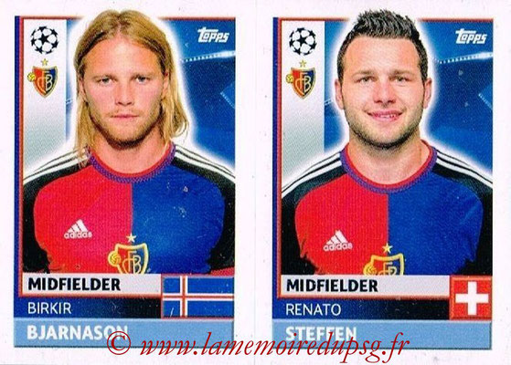 2016-17 - Topps UEFA Champions League Stickers - N° BAS 14-15 - Renato STEFFEN + Birkir BJARNASON (FC Basel 1893)