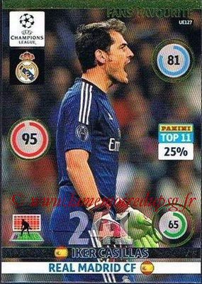 2014-15 - Adrenalyn XL champions League Update edition N° UE127 - Iker CASILLAS (Real Madrid) (Fans' Favourite)