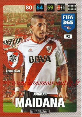 2016-17 - Panini Adrenalyn XL FIFA 365 - N° 092 -  Jonatan MAIDANA (CA River Plate)