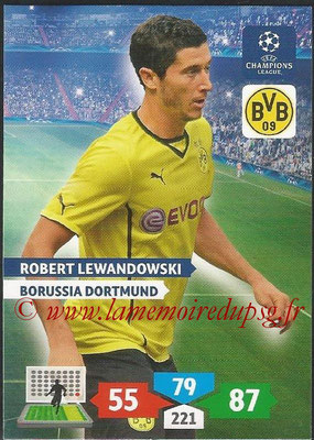 2013-14 - Adrenalyn XL champions League N° 108 - Robert LEWANDOWSKI (Borussia Dortmund)