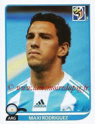 2010 - Panini FIFA World Cup South Africa Stickers - N° 117 - Maxi RODRIGUEZ (Argentine)