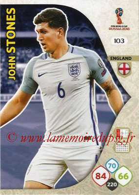 2018 - Panini FIFA World Cup Russia Adrenalyn XL - N° 103 - John STONES (Angleterre)