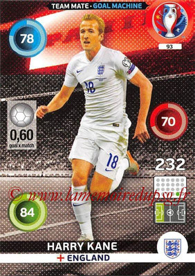 Panini Euro 2016 Cards - N° 093 - Harry KANE (Angleterre) (Goal Machine)