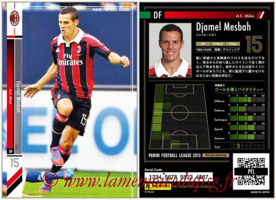 Panini Football League 2013 - PFL02 - N° 003 - Djamel Mesbah ( A.C. Milan )