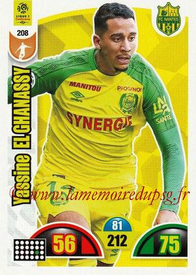 2018-19 - Panini Adrenalyn XL Ligue 1 - N° 208 - Yassin EL GHANASSY (Nantes)