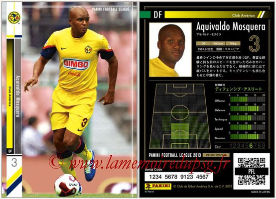 Panini Football League 2013 - PFL04 - N° 123 - Aquivaldo MOSQUERA (Club América)