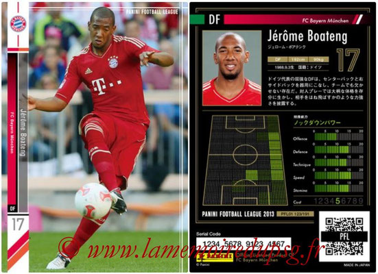Panini Football League 2013 - PFL01 - N° 123 - Jerome Boateng ( FC Bayern Munchen )