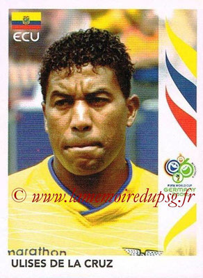 2006 - Panini FIFA World Cup Germany Stickers - N° 079 - Ulises DE LE CRUZ (Equateur)