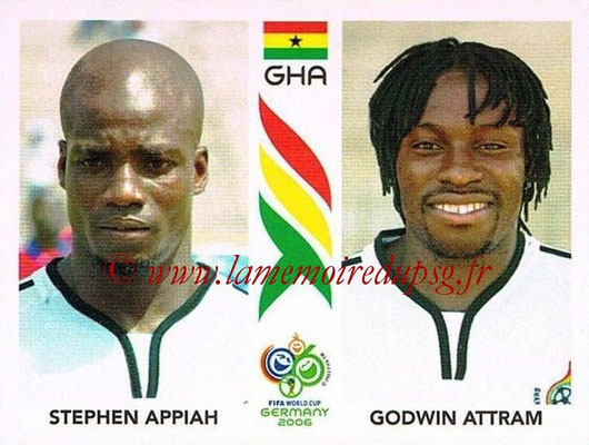 2006 - Panini FIFA World Cup Germany Stickers - N° 316 - Stephen APPIAH + Godwin ATTRAM (Ghana)