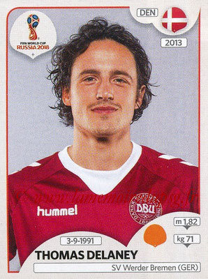 2018 - Panini FIFA World Cup Russia Stickers - N° 264 - Thomas DELANEY (Danemark)