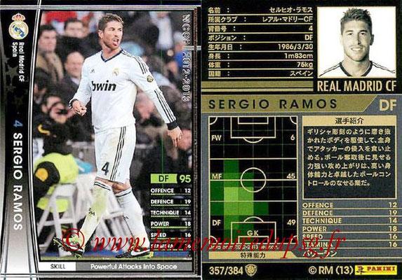 2012-13 - WCCF - N° 357 - Sergio RAMOS (Real Madrid CF)