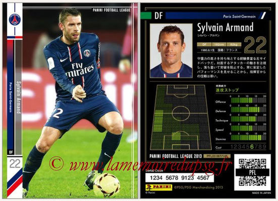 Panini Football League 2013 - PFL03 - N° 067 - Sylvain Armand (Paris Saint-Germain)
