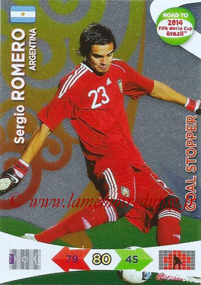 2014 - Panini Road to FIFA World Cup Brazil Adrenalyn XL - N° 206 - Sergio ROMERO (Argentine) (Goal Stopper)