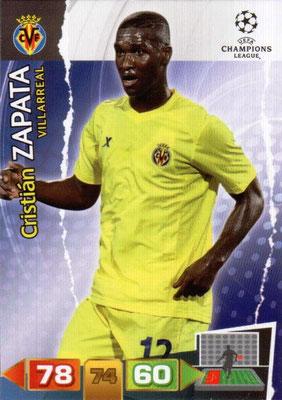 2011-12 - Panini Champions League Cards - N° 260 - Cristian ZAPATA (Villarreal)