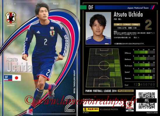 Panini Football League 2014 - PFL06W - N° 003 - Atsuto UCHIDA (Japon) (Star +)