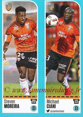 2016-17 - Panini Ligue 1 Stickers - N° 304 + 305 - Steven MOREIRA + Michael CIANI (Lorient)