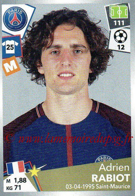2017-18 - Panini Ligue 1 Stickers - N° 380 - Adrien RABIOT (Paris Saint-Germain)