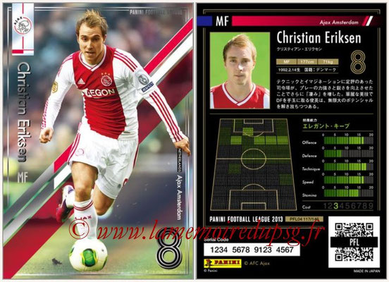 Panini Football League 2013 - PFL04 - N° 117 - Christian ERIKSEN (Ajax Amsterdam)