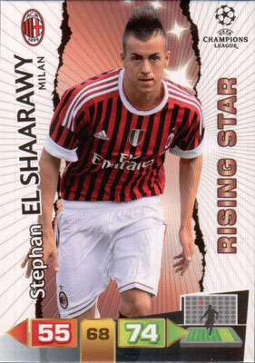 2011-12 - Panini Champions League Cards - N° 168 - Stephan EL SHAARAWY (Milan AC) (Rising Star)