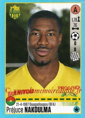 2016-17 - Panini Ligue 1 Stickers - N° T36 - Préjuce NAKOULMA (Nantes) (Set Transfert)