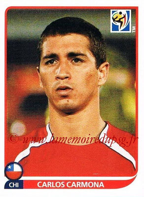 2010 - Panini FIFA World Cup South Africa Stickers - N° 629 - Carlos CARMONA (Chili)